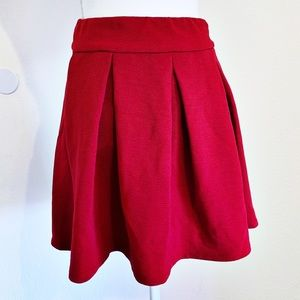 THE LIMITED Red Zip Back A Line Skirt